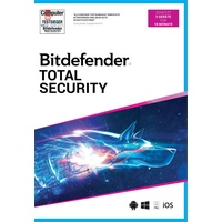 BitDefender Total Security 2021 5 Gerät / 18 Monate (Code in a Box Windows, Mac, Android, iOS Deutsch
