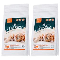 Christopherus Trockenfutter Christopherus Harnstein-Diät Struvite, für Katzen, 2 Beutel á 1 kg