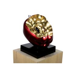 KUNSTLOFT Dekofigur Gesunder Genuss, handgefertigte Figur aus Kunststein