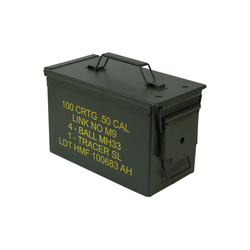 HMF Aufbewahrungsbox Munitionskiste, US Ammo Box, Metallkiste, 30 x 19 x 15,5 cm, grün 30 cm x 19 cm x 15.5 cm