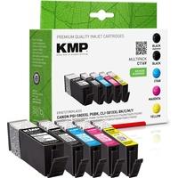 KMP C116V Multipack komp. mit Canon PGI-580 XXL CLI-581 XXL Kompatibel Schwarz,