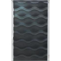 Doppelrollo Doppelrollo Welle, sunlines, Lichtschutz, ohne Bohren, freihängend, Effektiver Sichtschutz grau 80 cm x 150 cm