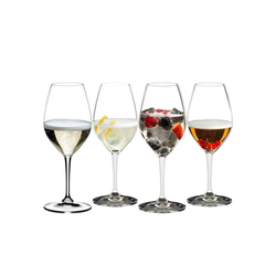 RIEDEL Glas Champagnerglas Mixing Champagne 4er-Set, Kristallglas
