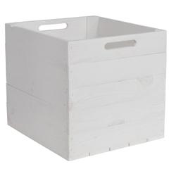 CHICCIE Holzkiste Kallax Aufbewahrungsbox Weiß 33x38x33cm (1 Stück)