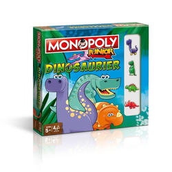 Winning Moves Spiel, Brettspiel Monopoly Junior Dinosaurier