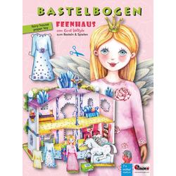 Feenhaus Bastelbogen mit Anziehpuppe