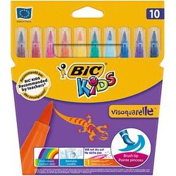10 BIC VISAQUARELLE Brush-Pens farbsortiert