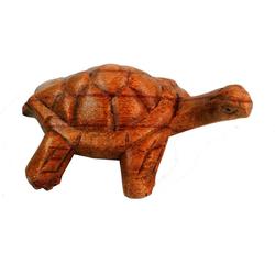 Guru-Shop Dekofigur Geschnitzte kleine Deko Figur - Schildkröte 1