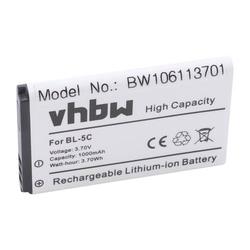 vhbw Li-Ion Akku 1000mAh (3.7V) für Avus C12, C22 wie Avus V2, MMDR 12.