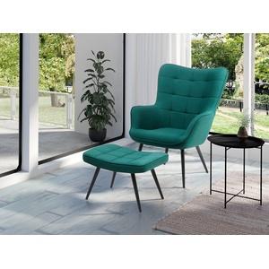 Homexperts Sessel ULLA (1-St), wahlweise mit oder ohne Hocker grün
