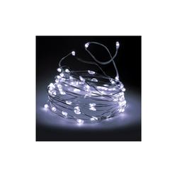 Silberdraht Micro Lichterkette 320 LED kaltweiß - Drahtlichterkette 32m - innen & außen IP44
