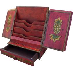Guru-Shop Aufbewahrungsdose Brief & Schreibtisch Ordner - rot Modell 2