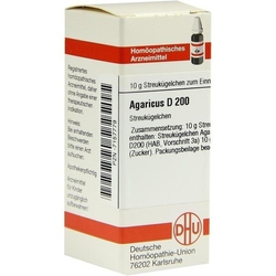 AGARICUS D 200 Globuli 10 g