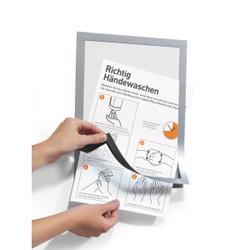 DURABLE Duraframe®, Handhygiene Info-Rahmen, A4, Informationsrahmen für Hygienevorschriften in Büro und Betrieb, 1 Beutel = 2 Stück, silber