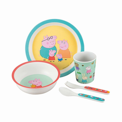 Kinder-Geschirr-Set Peppa Pig, 5-tlg.