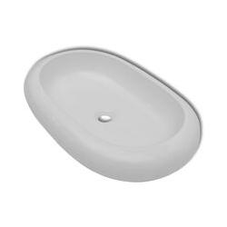 Vidaxl - Keramik Waschtisch Waschbecken Oval Weiß 63 x 42 cm