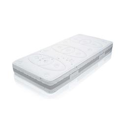 Taschenfederkernmatratze Taschenfederkernmatratze MED TTFK mit Klimaband, Matratzen Perfekt, 25 cm hoch, 680 Federn, Tonnentaschenfederkernmatratze mit Klimaband und 9 Zonen 90 cm x 200 cm x 25 cm