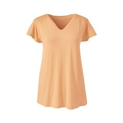 Shirt mit Smok, Damen, Größe: S Normal, Orange, Viskose, by Lands' End, Aprikoseneis - S - Aprikoseneis