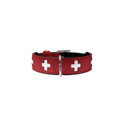 Hunter Halsband Swiss 75 rot 61 - 68,5 cm / 39 mm