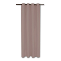 Vorhang, Bestlivings, Ösen (1 Stück), Thermogardine, blickdicht 140x245cm, hitzeabweisend und wärmeisolierend grau