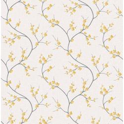 Art for the home Vliestapete Blumen - Solace, (1 St), Gelb - 10m x 53cm
