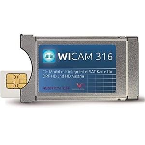 Wisi WICAM 316 CI+ Modul mit integrierter HDTV SAT-Karte für ORF HD und HD Austria