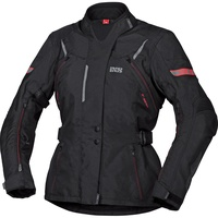 IXS Tour Liz-ST Damen Textiljacke schwarz/rot Größe XS