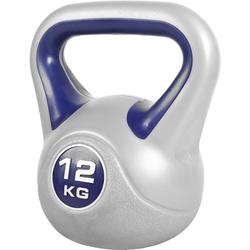 GORILLA SPORTS Kettlebell Kettlebell Stylish Kunststoff 12 kg, 12 kg grau