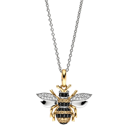 Viventy 783172 Silber Damen-Kette mit Anhänger Biene