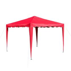 Pavillon Gartenpavillon Faltpavillon Alu/Metall 3x3m rot Gartenzelt Partyzelt