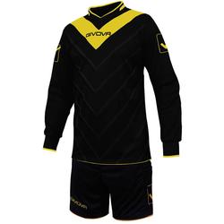 Givova Fußball Set Torwarttrikot mit Short Kit Sanchez schwarz/gelb - XL