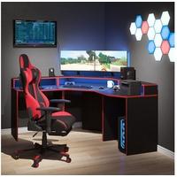Vicco Gamingtisch Gaming Desk Eckschreibtisch Kron Schreibtisch Gamer PC Tisch Computertisch