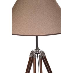 BIRENDY Stehlampe Riesige XXL Stativlampe Stehlampe im Dreibein Stativ Look F705 braun Schirm
