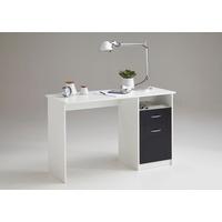 FMD Schreibtisch Jackson weiß-schwarz