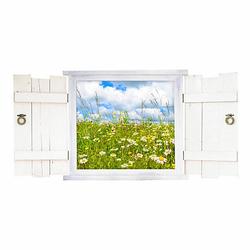 Wandtattoo 044 Blumenwiese im Fenster in 6 vers. Größen Wandtattoos bunt Gr. 50 x 250
