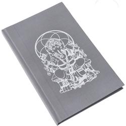 Guru-Shop Tagebuch Notizbuch, Tagebuch - Ganesh grau