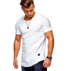 behype T-Shirt ARNOLD im Biker-Style weiß XXL