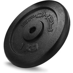 SPOKEY Sinis Hantelscheiben aus massivem Eisengussgewichte   Bohrung 29 m, passt für alle Stangen 28 mm   Intensives Workout für Einsteiger und Fortgeschrittene, von 0,5 bis 20 kg