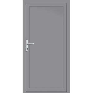 """PVC Nebeneingangstür nach Maß """"DIANA-M"""" Silbergrau RAL 7002 innen öffnend DIN rechts (Sicht von innen)"""