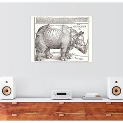 Posterlounge Wandbild, Rhinozeros 90 cm x 70 cm