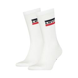 Levi's® Socken 2er Pack Levis Regular Cut Sprtwr Logo 2p Socken weiß 39-42