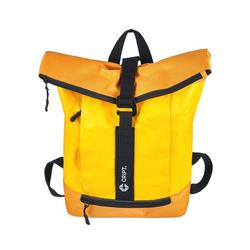CRIPT Rucksack veggy backpack, Kraft Papier, reißfest, abwaschbar, leicht, ökologisch, nachhaltig gelb