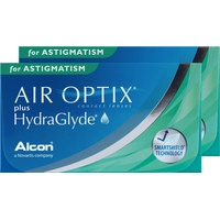 Alcon Air Optix plus Hydraglyde for Astigmatism, 6er Pack / 8.70 BC / 14.50 DIA / -6.00 DPT / -1.25 CYL / 90° AX