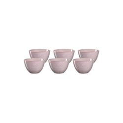 LEONARDO Schale MATERA Keramikschale 15,3 cm rosa 6er Set, Keramik, (6-tlg)