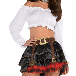 Halloween Adult Pirate Off Shoulder Top Accessory Halloween Costume, Women's, Size: One size, White
