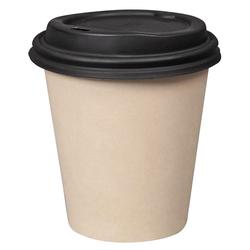 Kaffeebecher Heißgetränke Coffee to go mit Deckel aus Bambus 200 ml, 100 Stk.