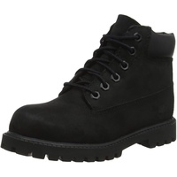 Timberland Unisex-Kinder 6-Inch Premium Waterproof Boot Klassische Stiefel, Schwarz Black Nubuck, 24 EU