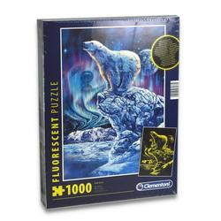 Clementoni® Steckpuzzle Puzzle - Eisbär (fluoreszierend, 1000 Teile), 1000 Puzzleteile