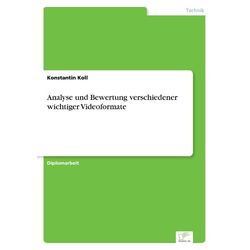 Analyse und Bewertung verschiedener wichtiger Videoformate als Buch von Konstantin Koll