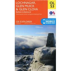 Lochnagar Glen Muick & Glen Clova 1 : 25 000